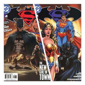 Superman-Batman-8-1st-Printing-amp-3rd-Printing-Michael-Turner-Covers-DC-Comics