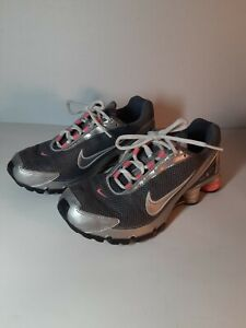 Nike-Shox-Turbo-IV-315411-001-womens-pink-Gray-2006-Sz-6-5-running-shoes