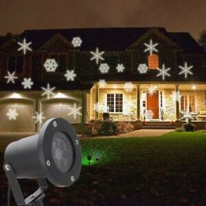 Details About Christmas Led Outdoor Moving Snowflake Laser Light Projector Lamp Party Decor Uk