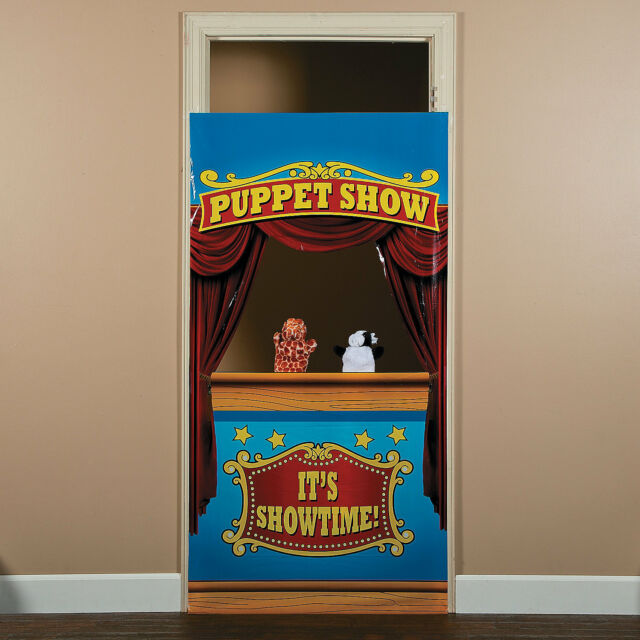 Carnival Big Top Tent Circus Party Decoration Prop PUPPET SHOW DOOR BANNER