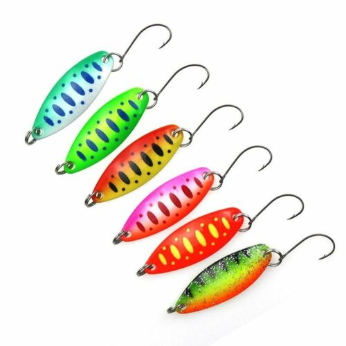 7pcs//lot Fishing Spoon Lures 3.4cm 3.5g Trout Metal Casting Jig Lures Bass