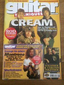 Acheter Pas Cher Guitar Techniques Magazine & Cd: Juin 2001-afficher Le Titre D'origine