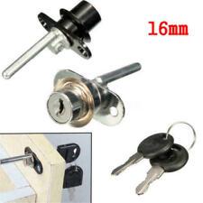 16mm Alloy Drawer Lock Door Desk File Cabinet Cupboard Pedestal Locker 2 Keys