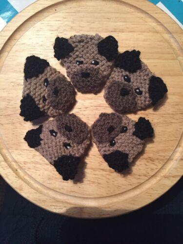 Border Terrier Knitted Brooch Super Cute