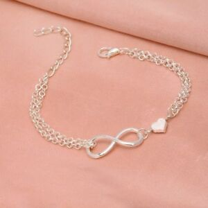 Fashion-Girl-Charming-Lucky-Number-8-Simple-Bracelet-Jewelry-Heart-Shaped