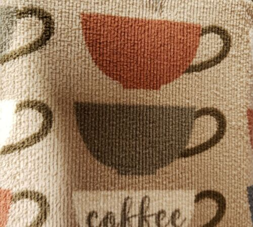 """COFFEE CUPS /& BROWN by FC Set of 2 different Microfiber Drying Mats, 16/"""" x 19/"""""""