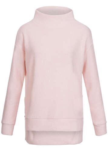 50% off b15120156 da donna eight 2 Nine pullover sweater collo alla coreana LATERALE. Rosa Zipper