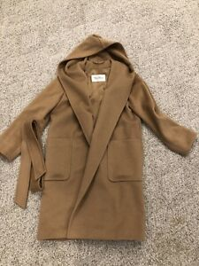 c5e8d1c1b07a9 Authentic NWOT MAX MARA WOMENS RIALTO Hooded Camel Hair Coat Sz 38 8 ...