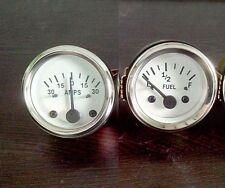 White Face 2 52mm Electrical Fuel Gauge Ampere Gauge 12v Negative Ground