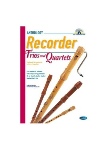 Cappellari Recordr Trios 4tets Bk Cd Play MUSIC BOOK /& CD Recorder Ensemble