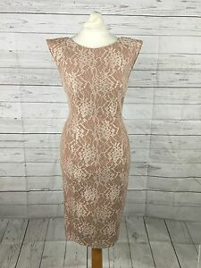 Womens-French-Connection-Lace-Cream-Tailored-Dress-Uk8-Great-Condition