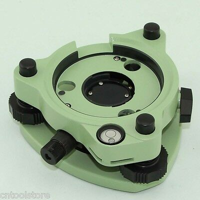 NEW GREEN THREE-JAW TRIBRACH WITH OPTICAL PLUMMET FOR PRISM / TOTAL STATIONS