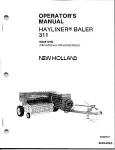 new holland 311 square baler operator manual ebay. Black Bedroom Furniture Sets. Home Design Ideas