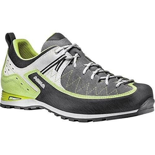 NIB Asolo Salyan MM Graphite Lime Low Hiking Trekking Boots shoes Men's Sz 11.5