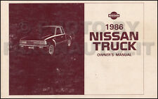 1986 Nissan Pickup Truck Owners Manual Owner Guide Book 720 Pick-Up Gas Diesel