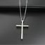3 Sizes Polished Stainless Steel Unisex Prayer Cross Pendant FOR Necklace Chain