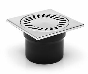 boden abfluss eckig badezimmer wet zimmer duschablauf 150x150mm 110mm ebay. Black Bedroom Furniture Sets. Home Design Ideas