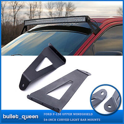 For 04-14 Ford F150 54inch Curved LED Light Bar Windshield Mounting Brackets