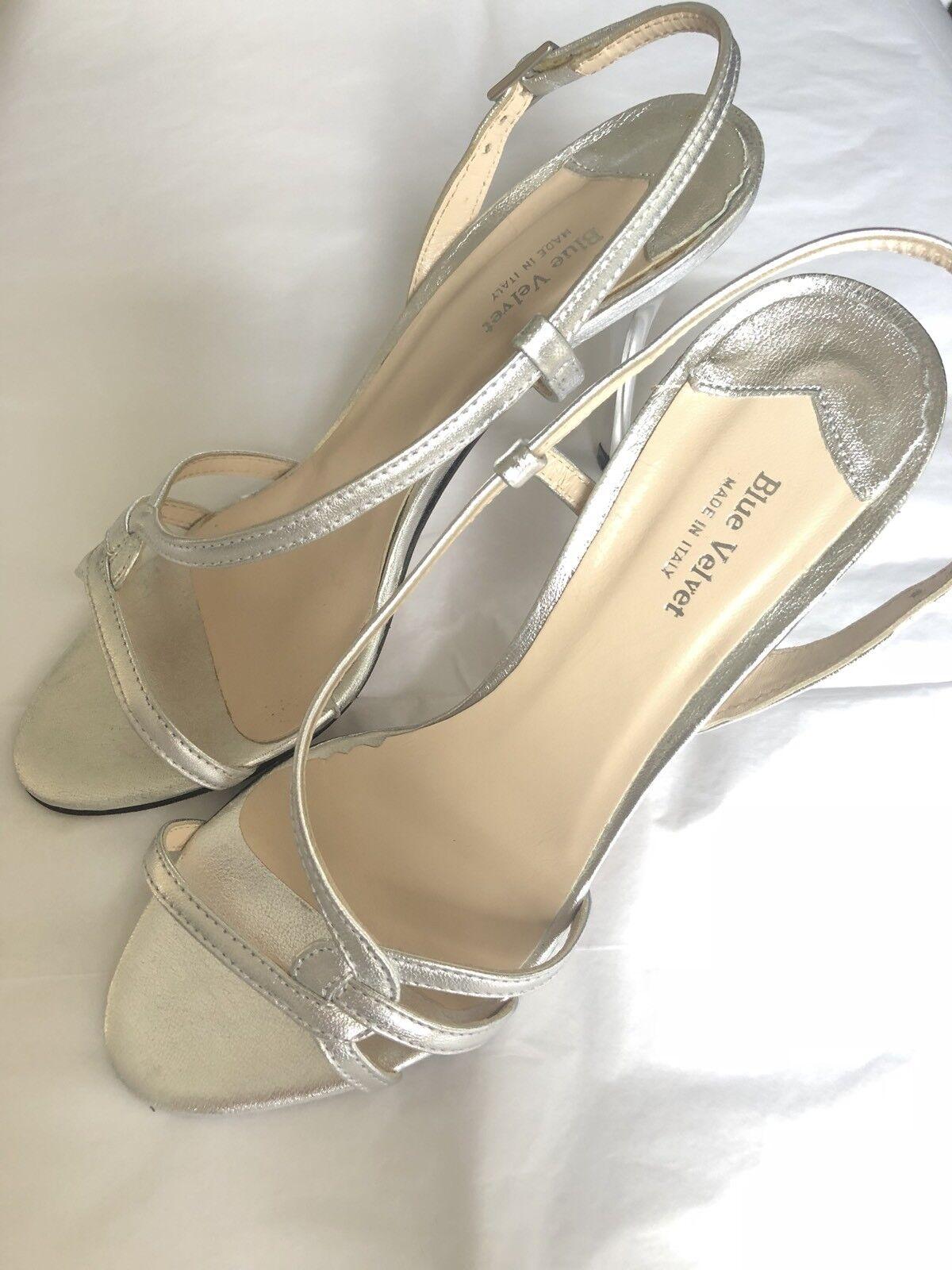 BNIB London Blue Velvet London BNIB Silver Leather Strappy Sandals 590247