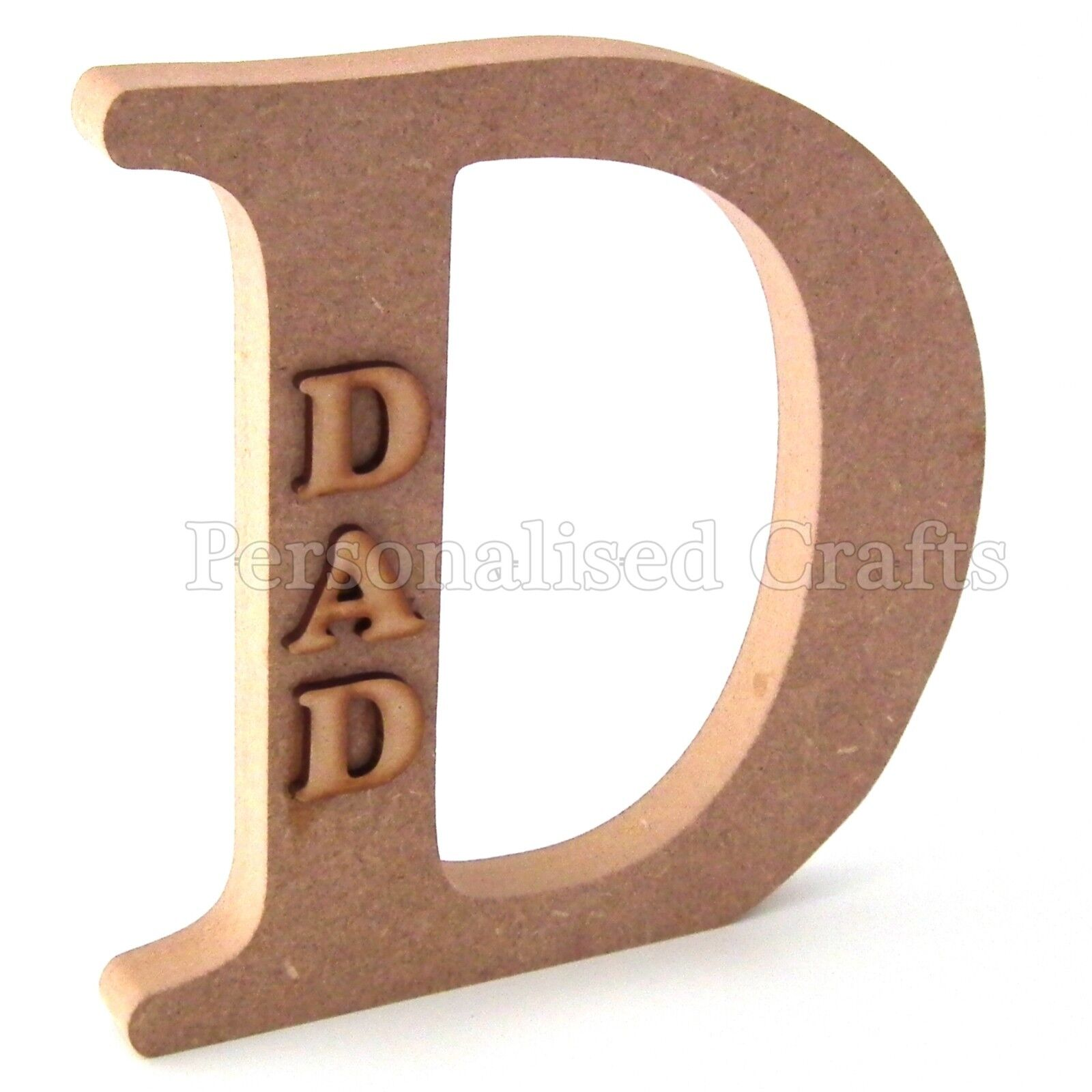 Dad Wooden MDF Letter Fathers Day Christmas Birthday Celebration Gift