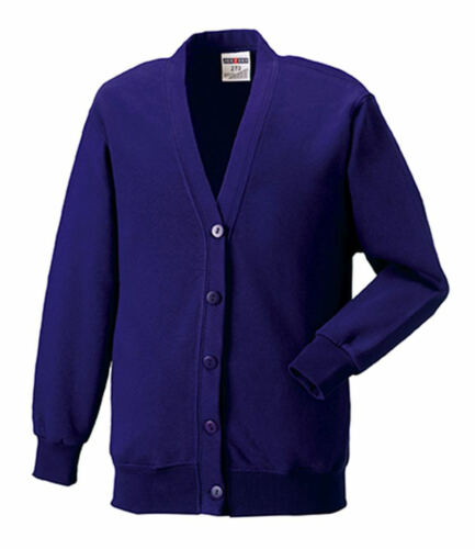 Russell Button Up Sizes XS-XL Knitted Cardigan Various Colours
