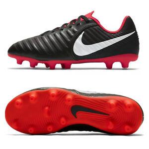 872d46803e3 Nike JR LEGEND 7 CLUB FG scarpe calcio bambino Tiempo NERO ROSSO ...