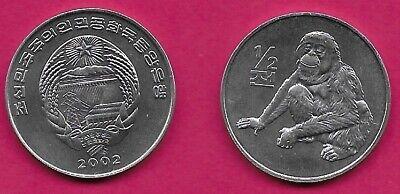 KOREA 1//2 CHON 2002 UNC MAMUSHI PIT VIPER /& STATE ARMS