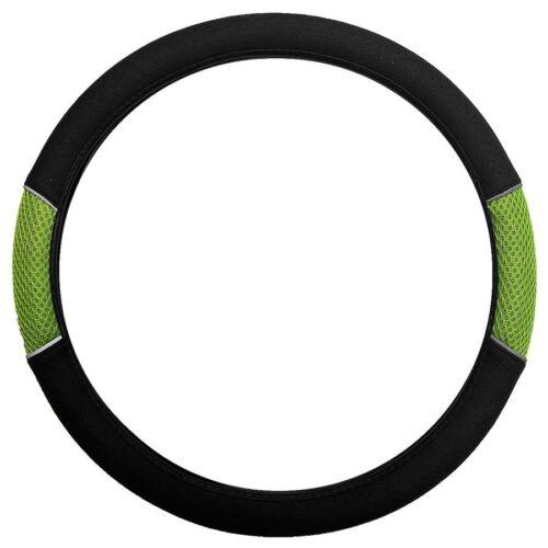 Green Black Steering Wheel Cover Soft Grip Mesh Look Peugeot 307 Hatchback 01-07