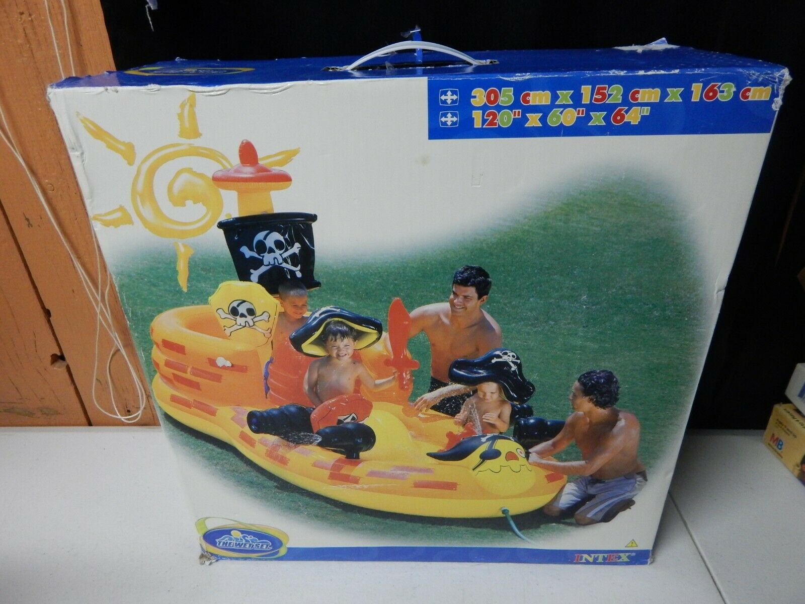 INTEX Pirata Barco escondite Agua Piscina Jugar Center Mojado Conjunto