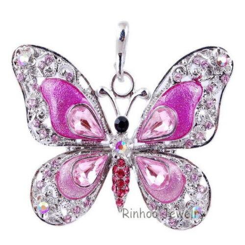 2019 Hot Strass Cristal Papillon Pendentif Longue Corde Chaîne Collier Pour Femmes