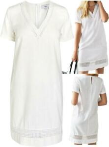 NEXT-Summer-WHITE-Linen-Blend-Crochet-Embroidery-T-Shirt-Shift-Dress-Tunic-6-22