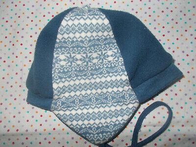 100% QualitäT Baby Jungen Winter Mütze Gr. 46/47 Pusblu Dm Blau Petrol Fleece Jersey Extrem Effizient In Der WäRmeerhaltung