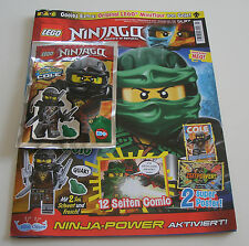 LEGO Ninjago 58 mit Ninja Jay und Stickertüte Jurassic World Magazin Nr