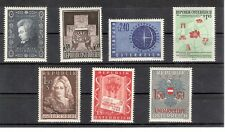 Österreich 1956 Kompletter Jahrgang 7 Werte Postfrisch ** MNH ANK 1033 - 1039