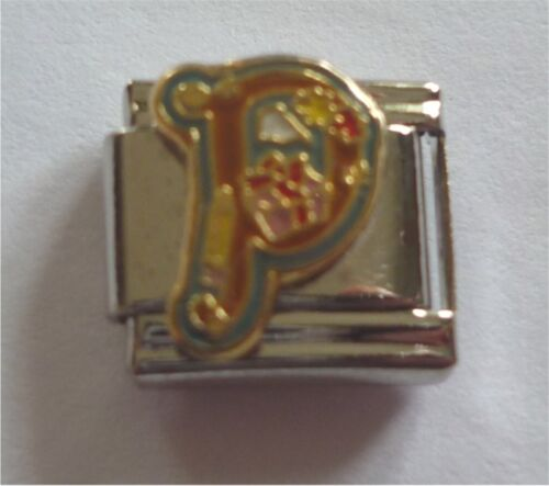 Italian Charms Letter Alphabet  Letters P for Present