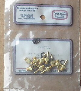 """11752-2 Clippard Minimatic 10 Brass Hose fittings 10-32 to 1//16/"""" ID hose"""