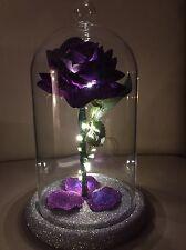 Beauty And The Beast Inspired Enchanted Rose Light Cadbury Purple  *WEDDINGS*