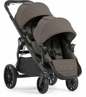Baby Jogger 2017 City Select Lux Double Stroller In Taupe Brand Free Ship