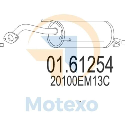 MTS 01.61254 Genuine New Exhaust with 2 year warranty