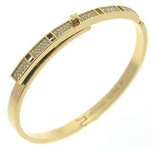 Image Is Loading Michael Kors Tone Pave Embellished Studded Bracelet