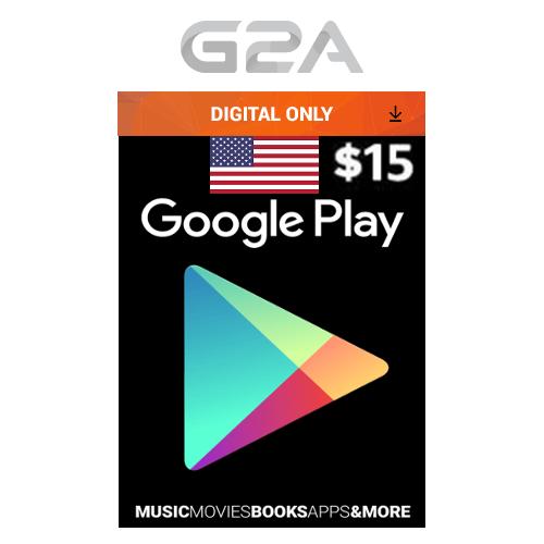 Google Play $15 USD Gift CARD - 15 US Dollars Code USA Android Store Prepaid Key