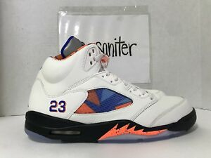 e4cec61b3c8a Nike Air Jordan Retro 5 International Flight Sail Blue Orange 136027 ...