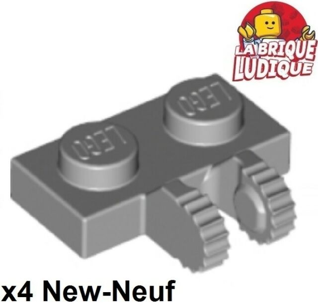 10x 4515340 Brick 60471 LEGO NEW 1x2 Black Hinge Plate Locking Dual Stub