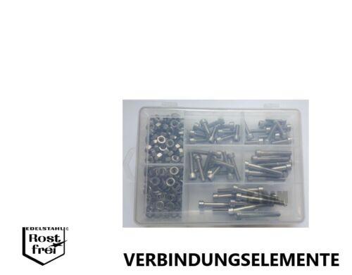 Zylinderkopfschrauben Sortiment//Set ISO 14579 M6 TORX 200 Teile EDELSTAHL A2 V2A