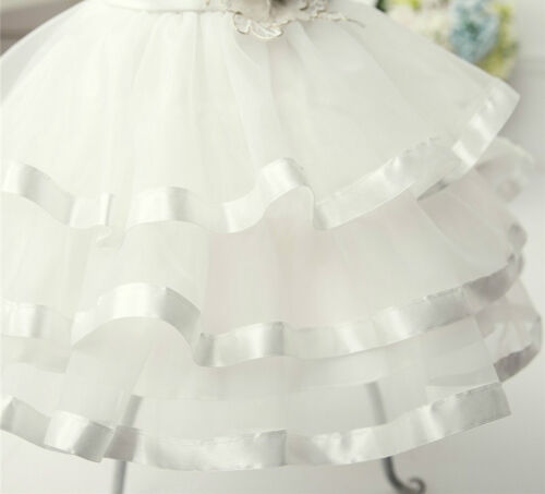Nelly à volants bébé fleur filles formelle robe robe de baptême mariage anniversaire
