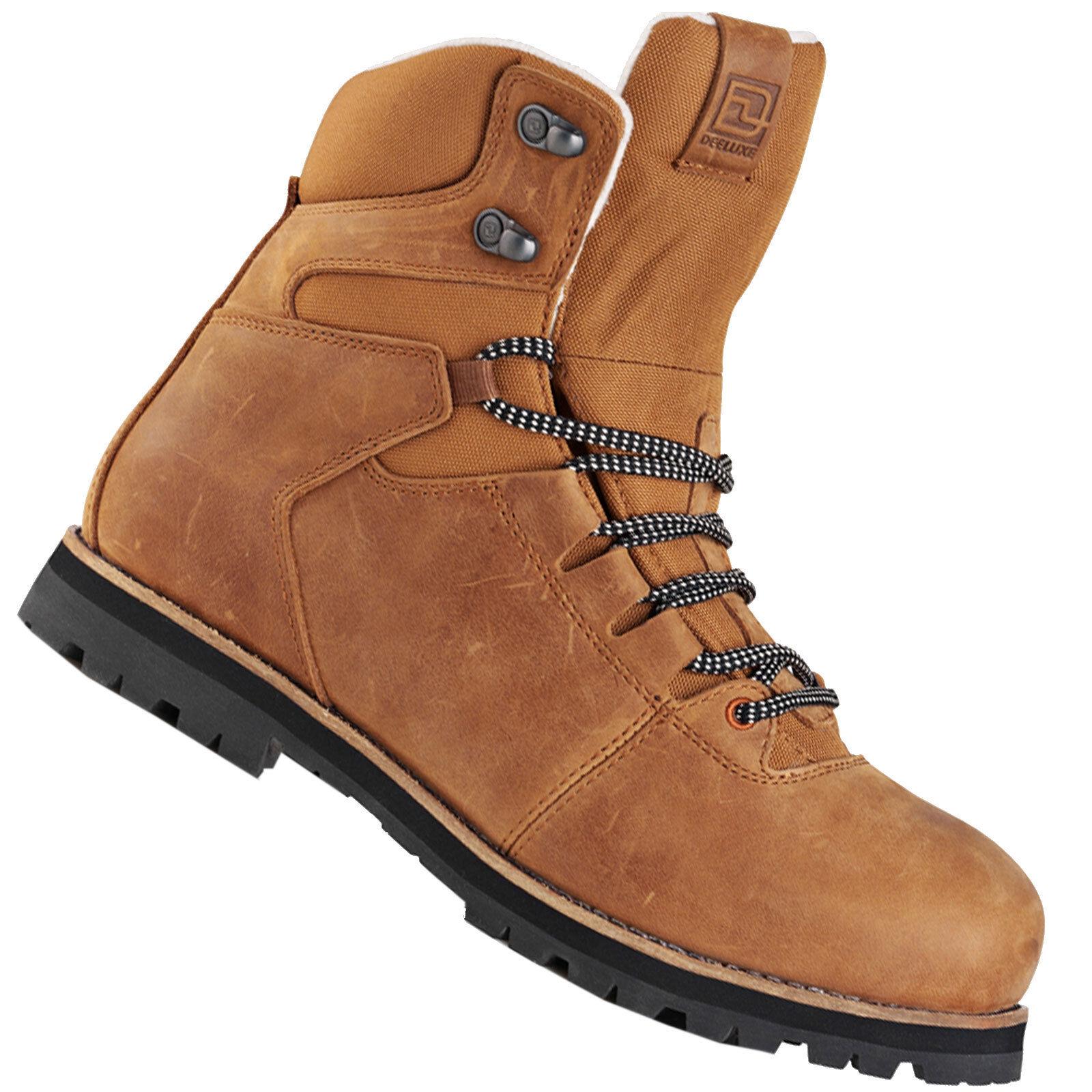 Deeluxe Principal Piel Hombre botas Zapatos de Invierno