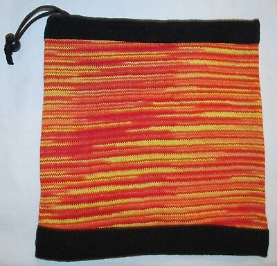 New Fleece Lined Neck Warmer Scarf Hat Fair Trade Ethnic Hippy Hippie Boho