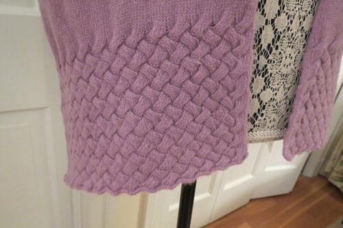 $286 Portolano Women/'s Lilac Cashmere Basket-Weave Scarf NWT