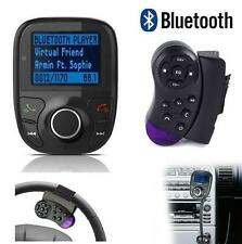 Car Kit FM Transmitter Handsfree Bluetooth MP3 Player Steering Wheel SD MMC FM