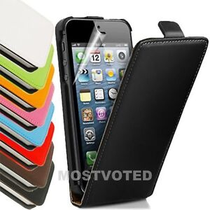 Premium-Genuine-Leather-Flip-Case-Cover-For-Apple-iPhone-4S-4